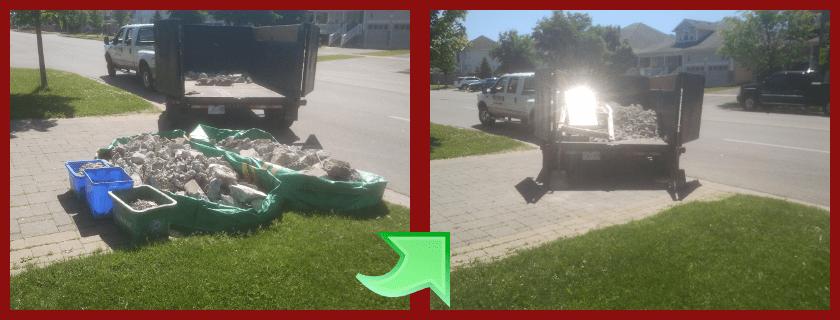 concrete haul away