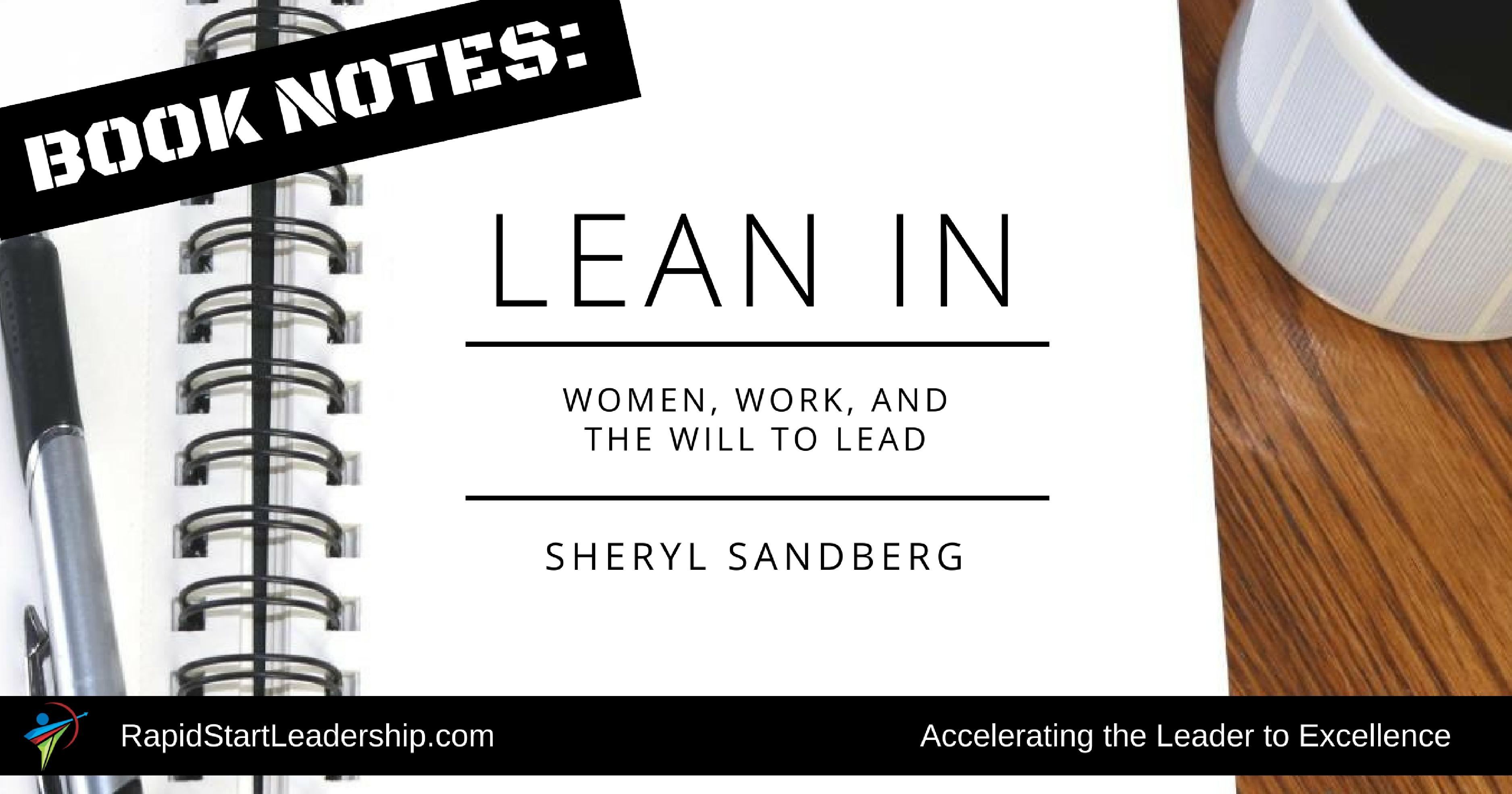 Book Notes: Lean In - RapidStart Leadership