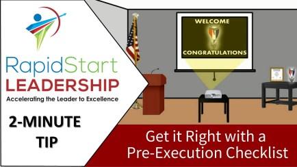 Pre-Execution Checklist