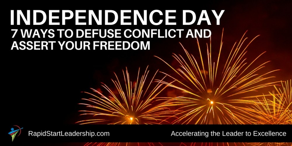 Independence Day - 7 Ways to Defuse Conflict