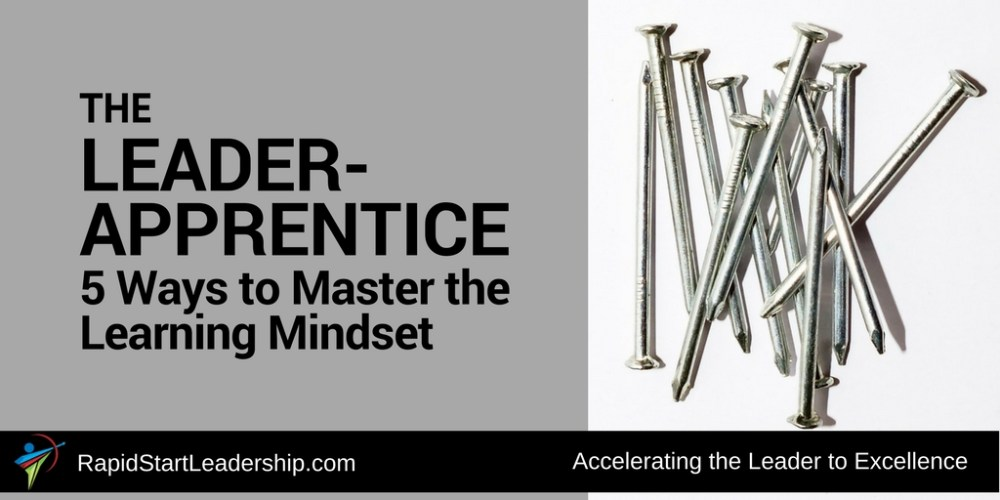 The Leader Apprentice: 5 Ways to Master the Learning Mindset