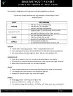 Edge Method Tip Sheet
