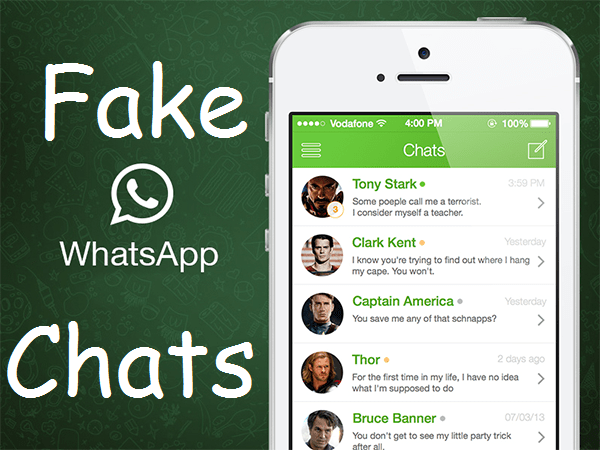 Create Fake Chat For WhatsApp On Android & iPhone