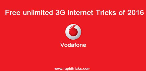Vodafone 3G Free Internet Trick