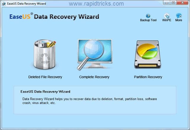 How to Recover the Delete Files Using EaseUs Data Recovery Wizard