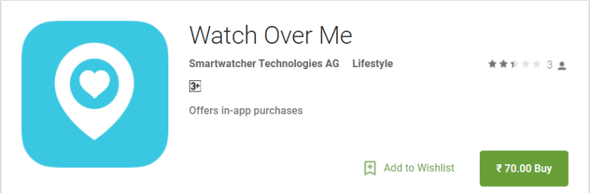 Watch over me app for android