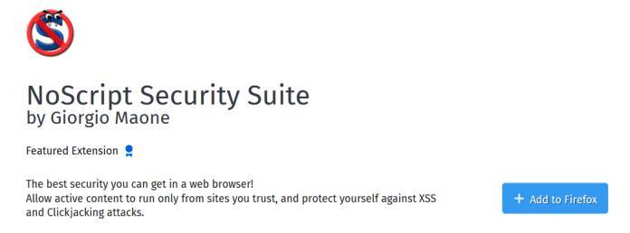Noscript security suite - Survey Bypass Tool