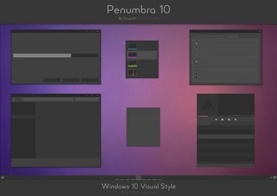 Penumbra 10 - Best theme for windows