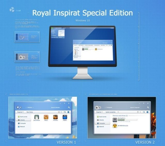Royal inspirate theme for windows 10