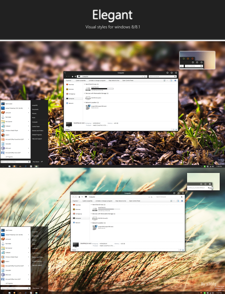 Elegant Windows 8 & 8.1 Theme