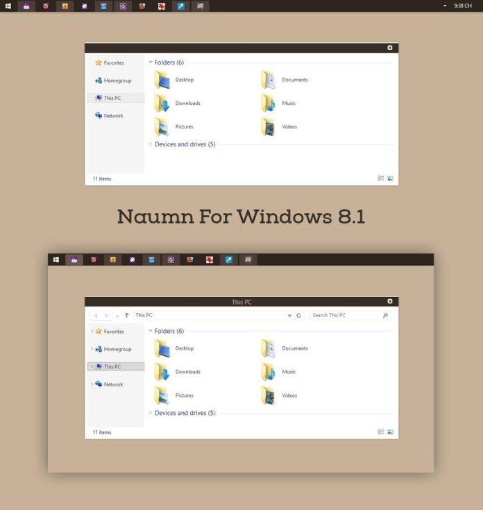 Naumn Theme for windows 8