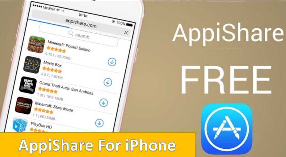 Appishare for iPhone, iOS