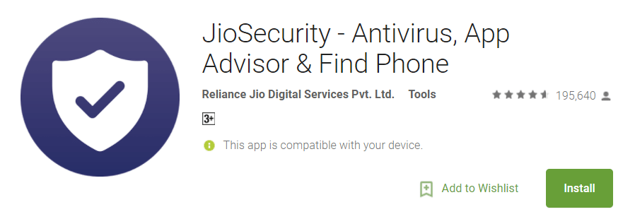 Jio Security App for Android