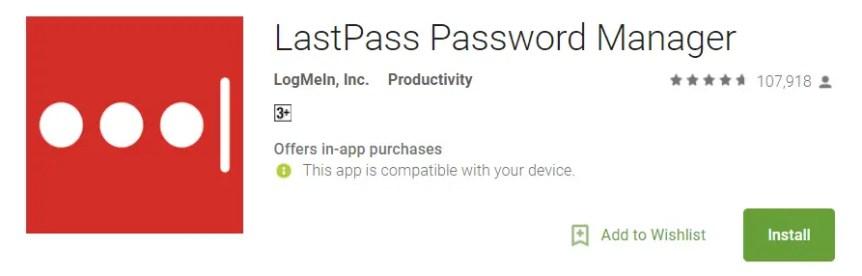 LastPass Password Manager Security App