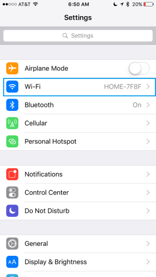 Wifi settings iPhone - How to change iPhone root password