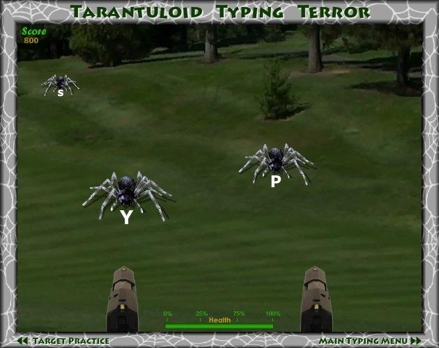 Typing Games Tarantuloid Typing Terror