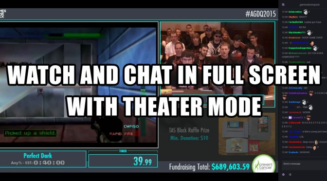 Watch and Chat in Full Screen with Theater Mode
