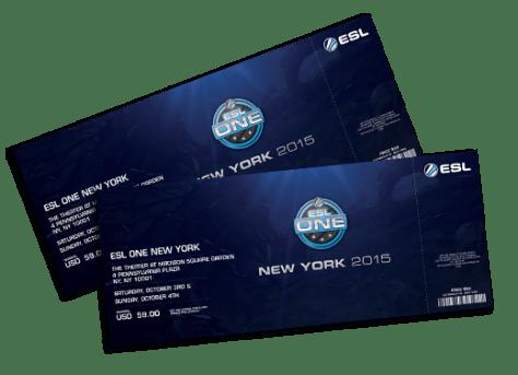 ESL One Pre-sale tickets