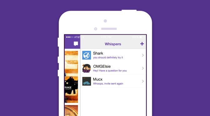 You can now message your Twitch buddies privately on iOS