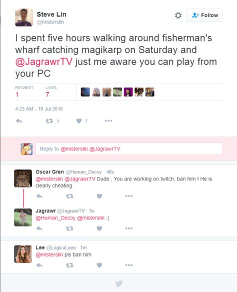 Twitch staffer Steve Lin tweeted about Jagrawr