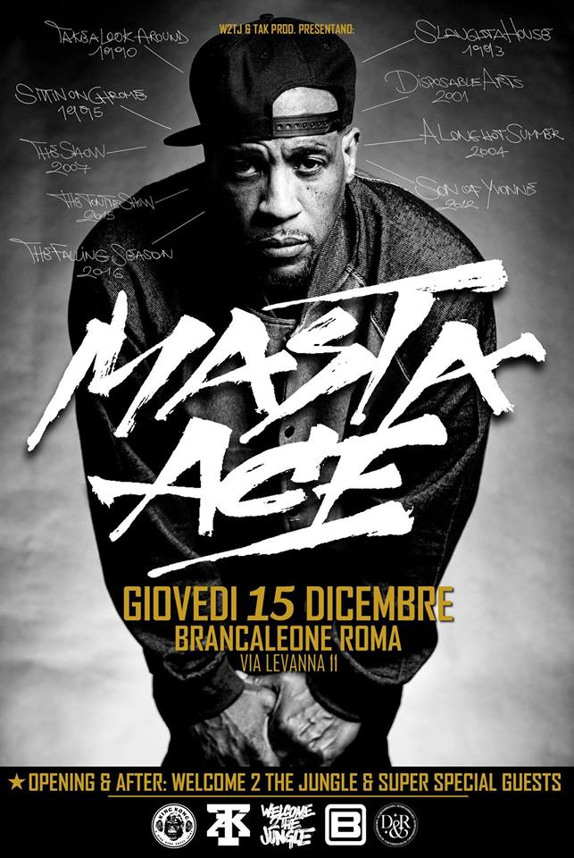 Masta Ace live a Roma questa sera!