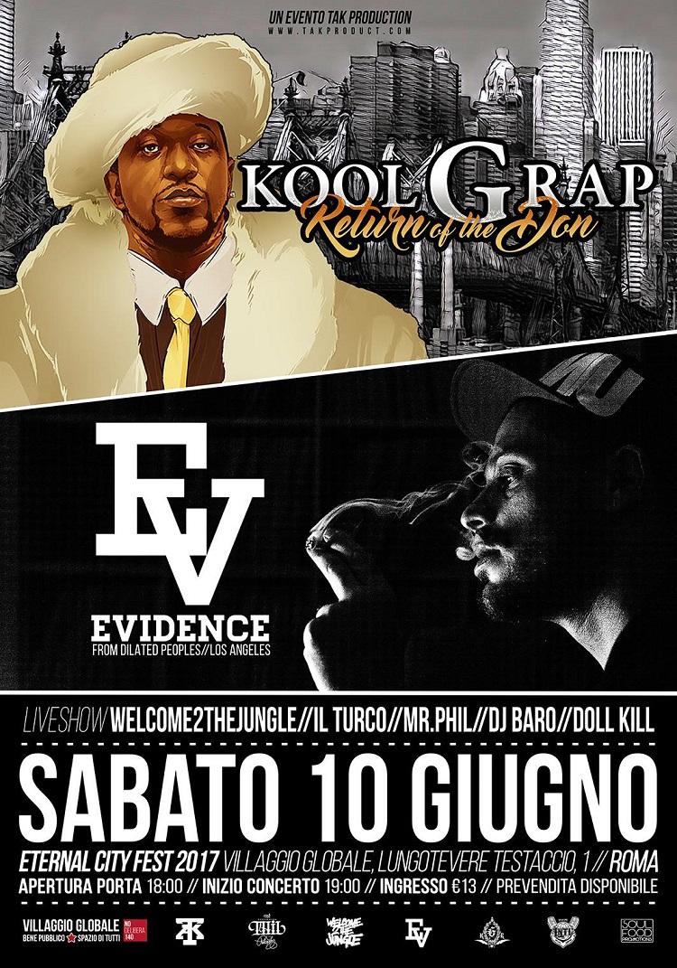 L'Eternal City Fest di Roma porta sul palco Kool G Rap e Evidence!