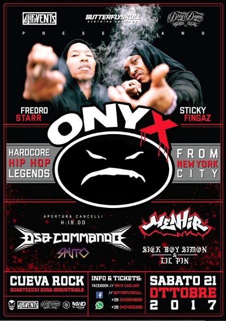 Onyx live a Cagliari – 21/10/17