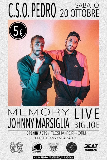 Johnny Marsiglia e Big Joe live a Padova – 20/10/18