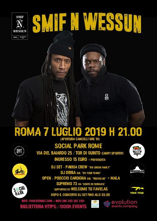Gli Smif-N-Wessun sono live a Roma il 7 luglio!