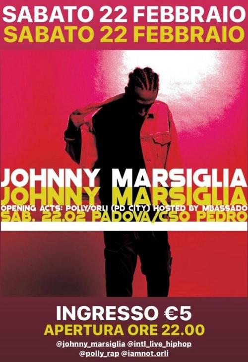 Johnny Marsiglia live a Padova il prossimo 22 febbraio
