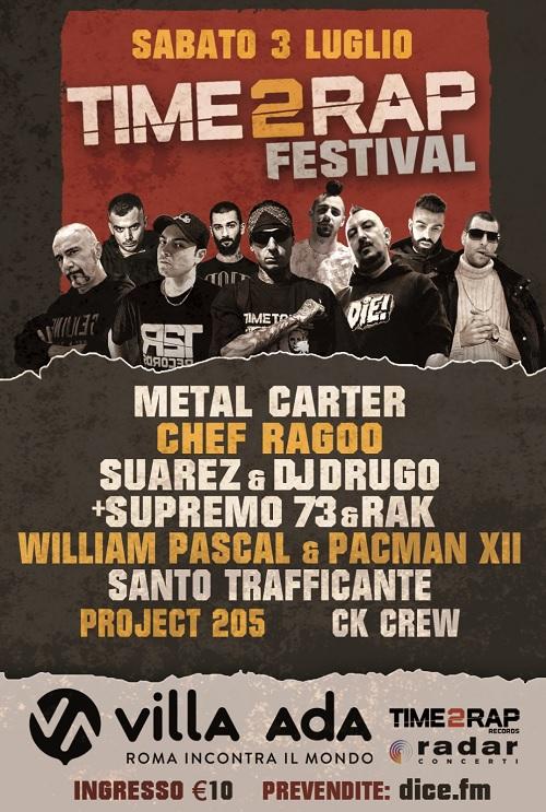 Time 2 Rap Records presenta l'evento Time 2 Rap Festival a Villa Ada (Roma)