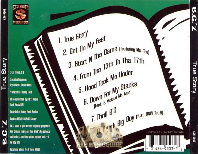 Image result for b.g.'z true story cassette