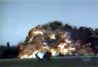 B-52 crashes at the Fairchild AFB