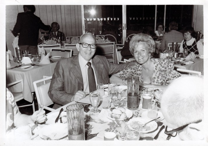 My parents having dinner at the Playboy Club in L.A., circa 1970.