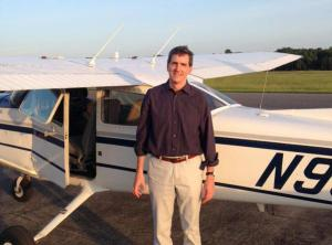 Whitaker earned his private pilot certificate last October in this Skyhawk