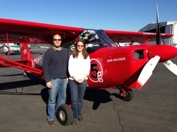 "A quick ""we did it!"" photo after Alyssa completed her tailwheel endorsement."
