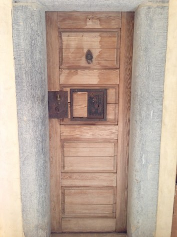 This prison cell door was made during Napoleon's reign. Who knows what intrigue may have taken place around it!