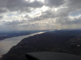 One of the first major landmarks after departing White Plains is the Hudson River.