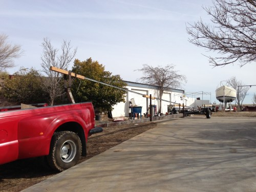 David's uncle fabricated this trailer to haul a sailboat mast across the country.