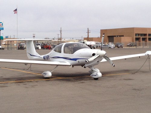 This is the 2007 DA-40 XLS that we ferried across the country.