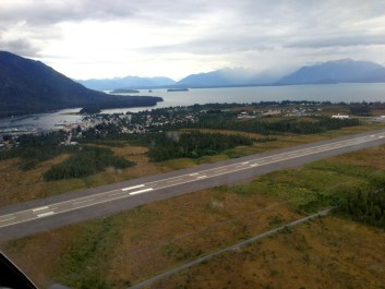 Petersburg, AK -- population 3,000 -- as seen on our descent into the airport via helicopter.