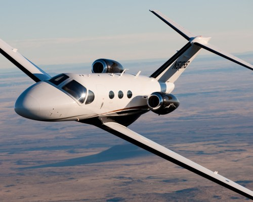 """The Citation Mustang, a """"very light jet"""" (though not an inexpensive one!)"""