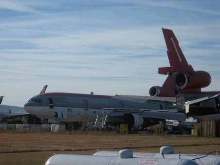 Greenwood is home to a nice but little-used airport. GE Capital maintains this boneyeard for old airliners.