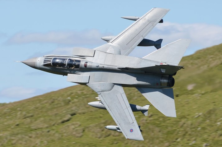 """When Matt needs a change of scene, he often heads up to the mountains in North Wales. From a number of known vantage points, its possible to get some action shots of military jets as they roar through the valleys on low-level training sorties. """"It usually involves sitting on a mountain side for 8 hours, staring into the distance looking for movement at the entrance to the valley. When the jets appear they're past in a few seconds and if you're not quick you'll miss the shot. If you see half a dozen in the day you'll have done well, though it does vary and they never stick to a schedule, and it's very weather dependant. But there is no better way to practice your panning technique and the results are jaw dropping when it all works out, as you can see…"""""""