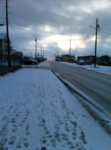 "The ""main drag"" in Nome. This is as congested as it gets here!"