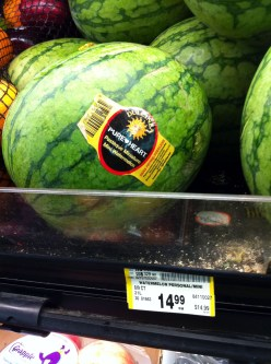 A mini-watermelon which costs $0.99 in California costs $15 bucks up here.