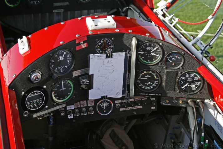 A typical Pitts instrument panel.  Not exactly tailor-made for the ADS-B era, is it?