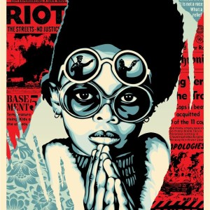Late Hour Riot - Shepard Fairey - Galerie Rapport'Art