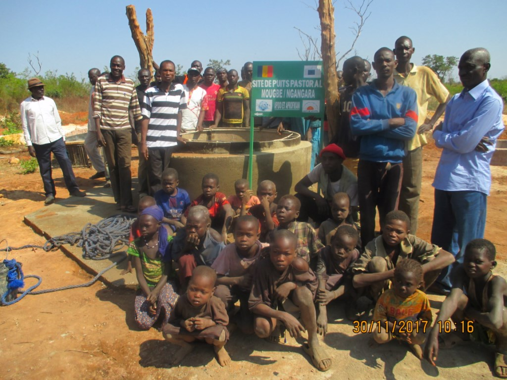 L'équipe de la mission AMCC à Mougbé village