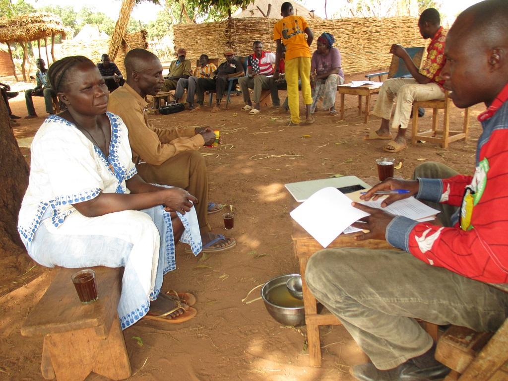 L'animateur du projet dans le village KANADJIROM, Bebopen (Mandoul Occidental), Enquete pour l'élaboration de la ligne de base PASTOR SUD